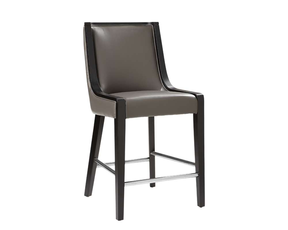 Newport Counter Stool Grey Leather Metro Element
