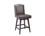 MAISON SWIVEL COUNTER STOOL – BROWN LEATHER