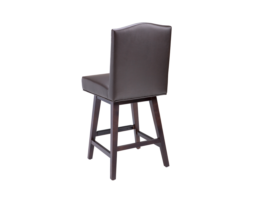 Maison Swivel Counter Stool Brown Leather Metro Element