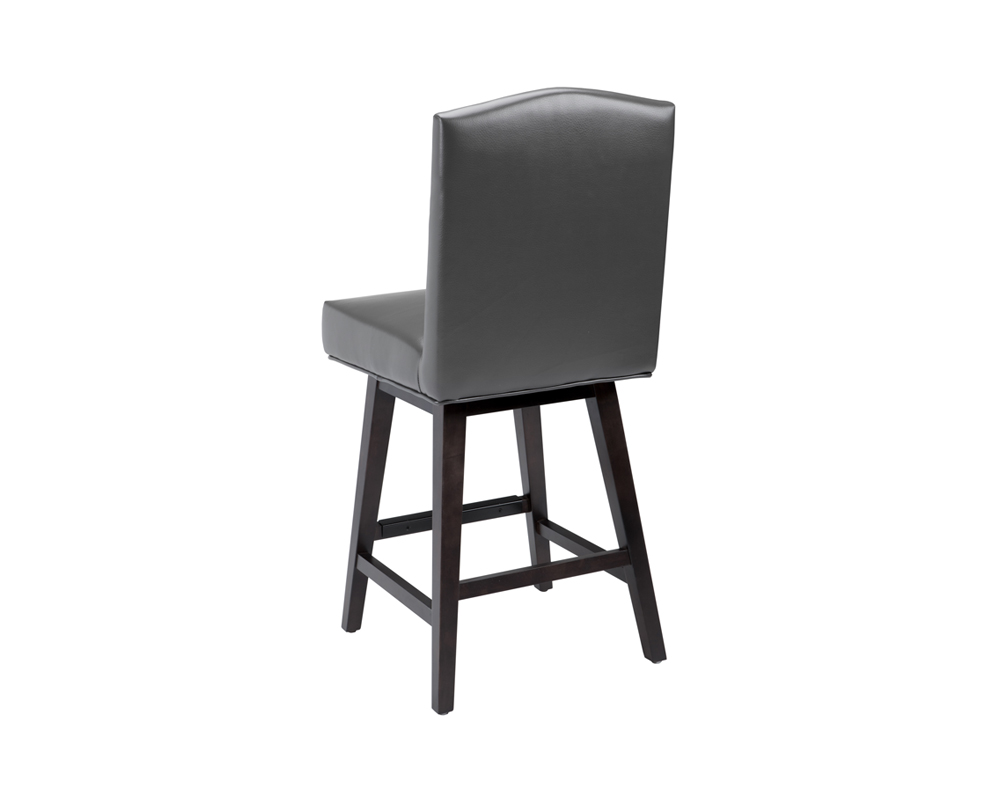 Maison Swivel Counter Stool Grey Leather Metro Element