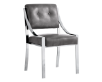 SAVOY DINING CHAIR – GREY LEATHER