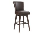 HAMLET SWIVEL COUNTER STOOL – BROWN LEATHER