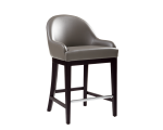 HAVEN COUNTER STOOL – GREY LEATHER