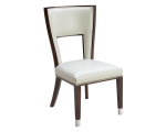 NAPLES DINING CHAIR – IVORY LEATHER