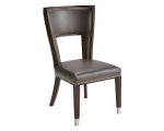 NAPLES DINING CHAIR – GREY LEATHER