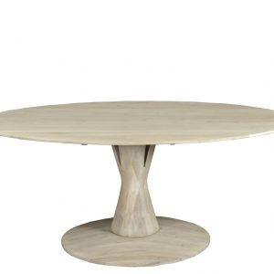 Aspen Round Dining Table – White Wash