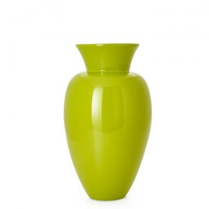 Adera Lacquered Bamboo 17.5″h Urn Vase – Lime