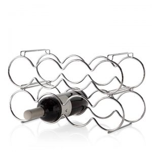 8 Bottle Stacking Wine Rack – Chrome