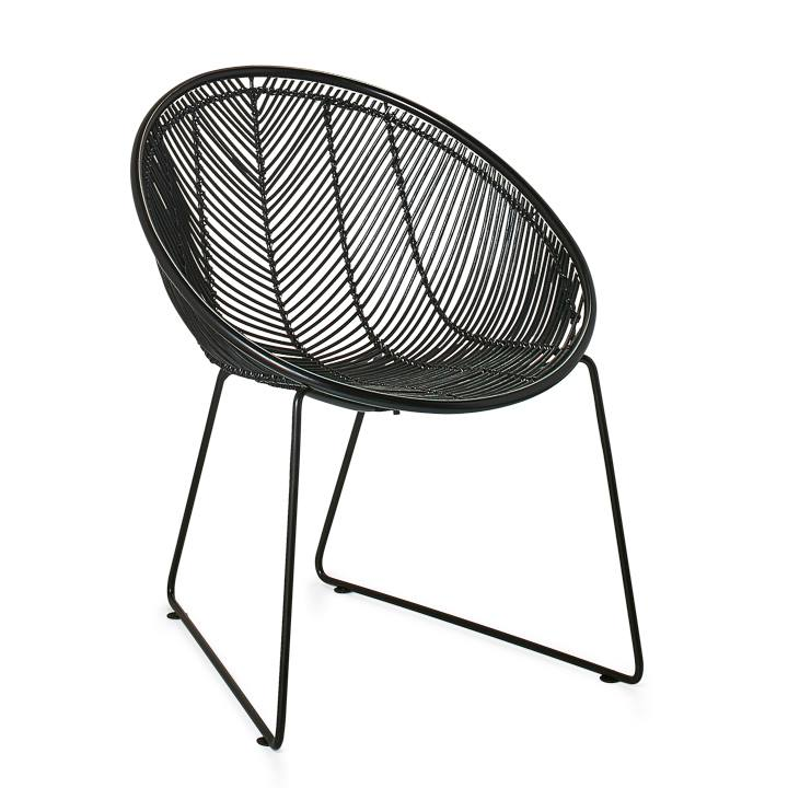 Wondrous Casa Rattan Scoop Chair Black Uwap Interior Chair Design Uwaporg
