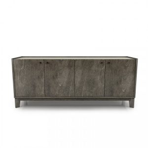 "Outline 72"" Sideboard with laquered glass top"