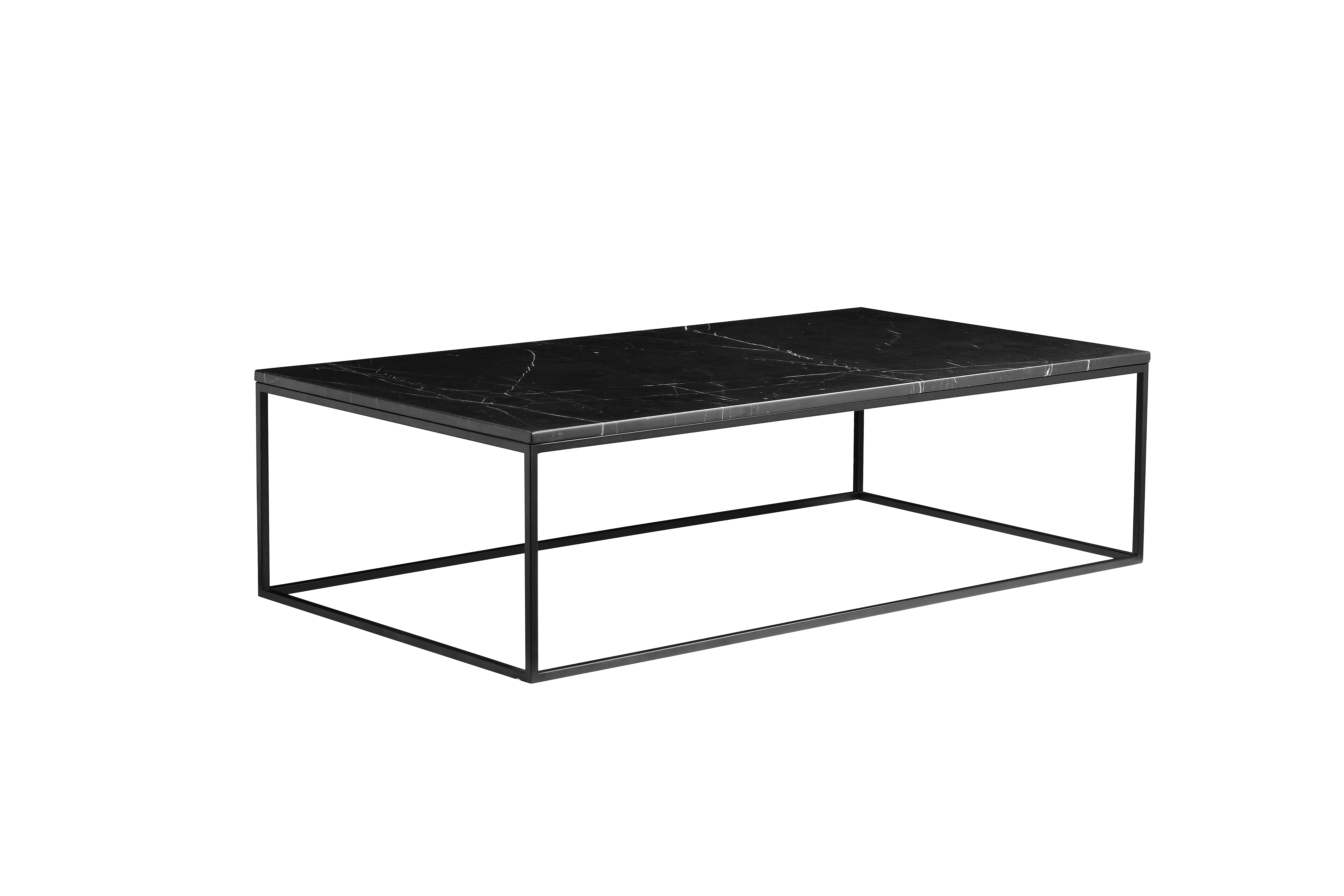 17042b106d Onix Rectangular Coffee Table Black Nero Marquina Marble with Black ...
