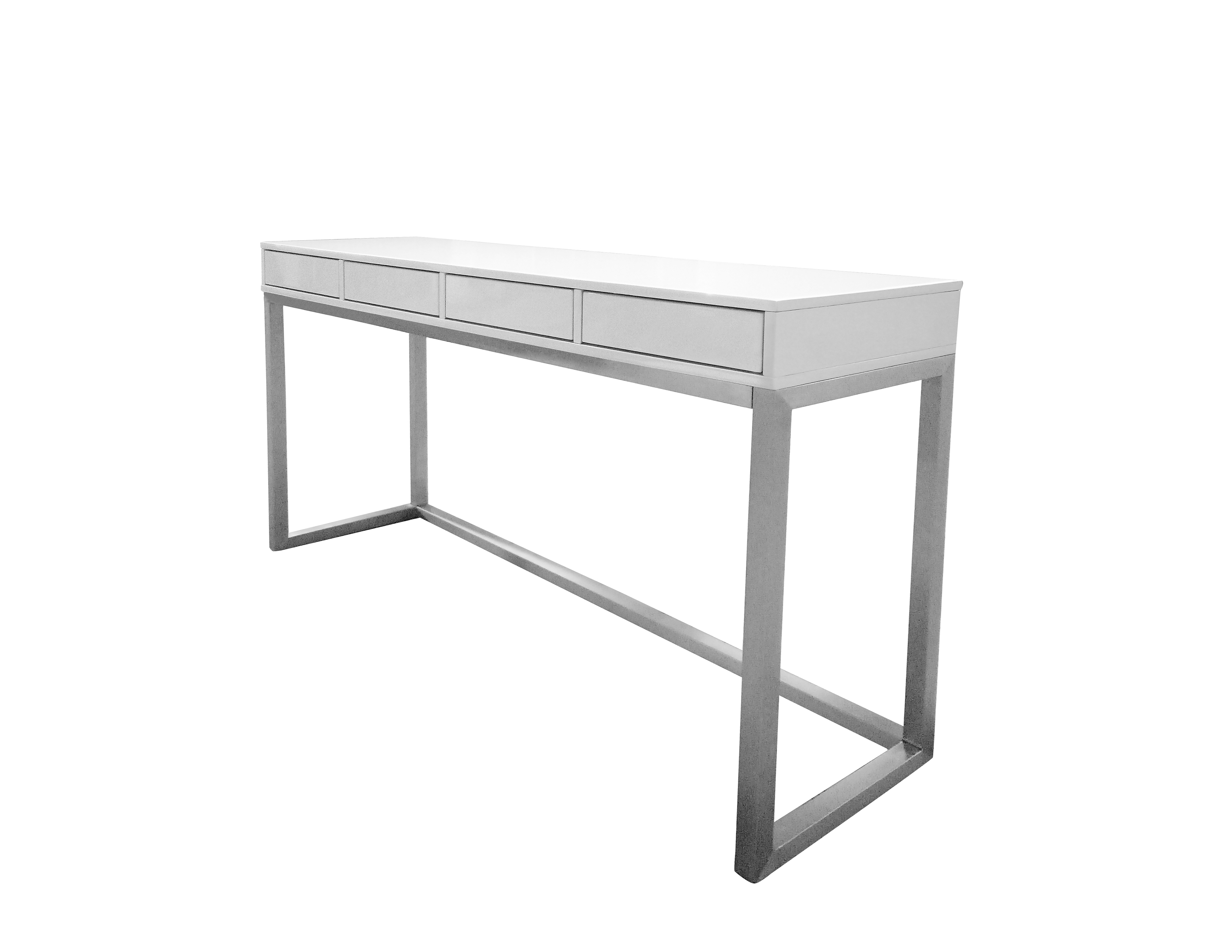 Miraculous Palco Sofa Table High Gloss White With Brushed Stainless Steel Gmtry Best Dining Table And Chair Ideas Images Gmtryco