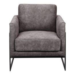 Luxley Club Chair Grey Velvet