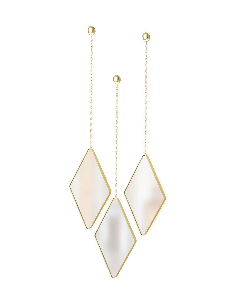 Dima Diamond Mirror Matte Brass Metro Element